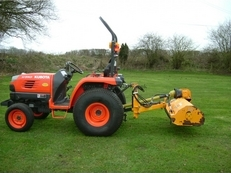 Reco Ferri ZME125 Compact Flail Mower,Tractor Flail Topper Hedge Mower, Ferri Flail Verge Grass Cutter