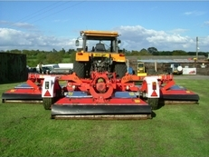Trimax Pegasus Batwing wide-area roller mower, Trimax 493 S2 Batwing mower,