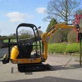 Second Hand Jcb 8014 Cst Mini Excavator c/w Protech P10 Post Driv...