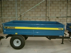 Fleming TR2 2 Tonne Hydaulic Tipping, Trailer,Fleming 2 tonne Hydraulic Tipping Trailer.