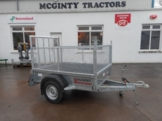 Nugent Single Axle Trailer With Mesh Sides 6 x 4