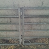 2 Galvanised gates