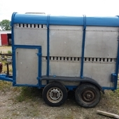 8x5 Blue Roof Ivor Williams Cattle and Sheep Trailer